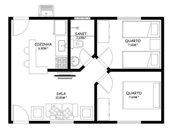 Foyer Planta Baixa : Planta baixa saiba o que é e como entendê la casa para