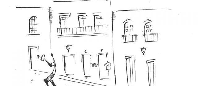 Baianidade retratada em nanquim decora ambientes