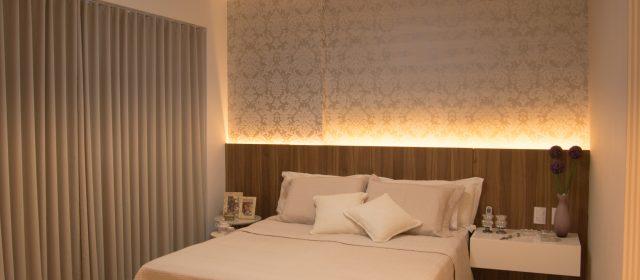 Iluminação ideal torna o quarto mais aconchegante