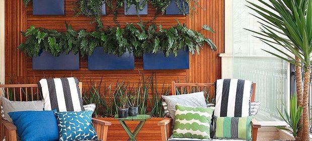 Parede verde é opção de jardim para espaços pequenos