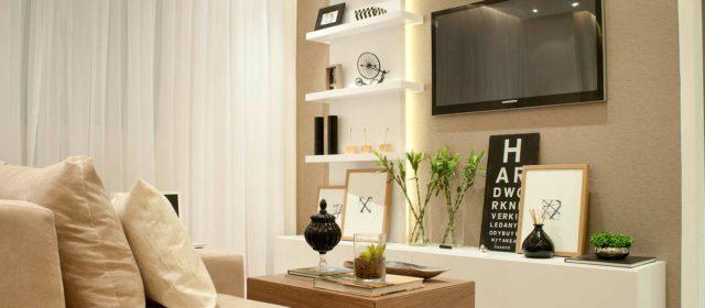 Móveis planejados são opção para personalizar sala de estar