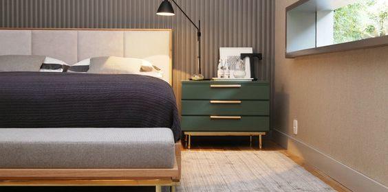 Cabeceira da cama proporciona conforto e estilo ao projeto do quarto