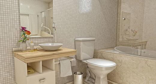 Gabinete para banheiro alia beleza e organização