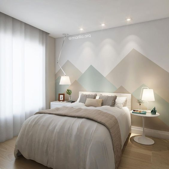 Pintura geom trica nas parede entenda como fazer for Pintura para apartamentos modernos